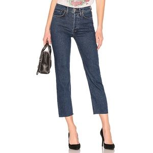 Re/Done High Rise Stove Pipe straight leg Jeans
